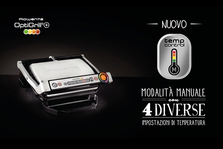 """Rowenta Tecnologia """"sensore automatico di cottura"""" - Gr712d Acciaio Inox"""