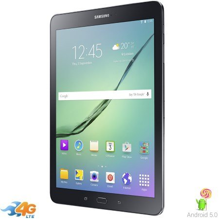 "Samsung Schermo 9.7"" 2048 x 1536 Multi-touch Super AMOLED - Galaxy Tab S2 32Gb T815 Black"