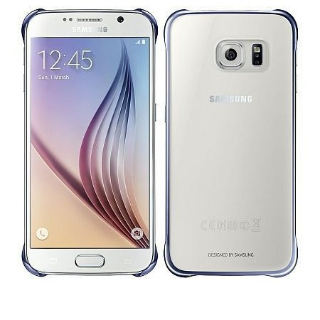 Samsung Cover per Samsung Galaxy S6 - Clear Cover S6 Blue