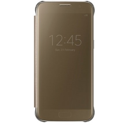 Samsung - Clear View Cover Gold Galaxy S7