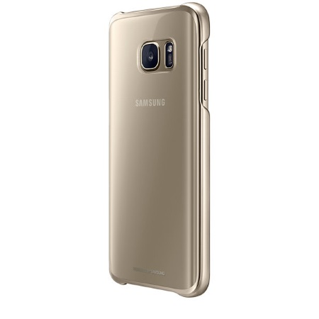 Samsung Clear Cover - Clear Cover Gold Galaxy S7