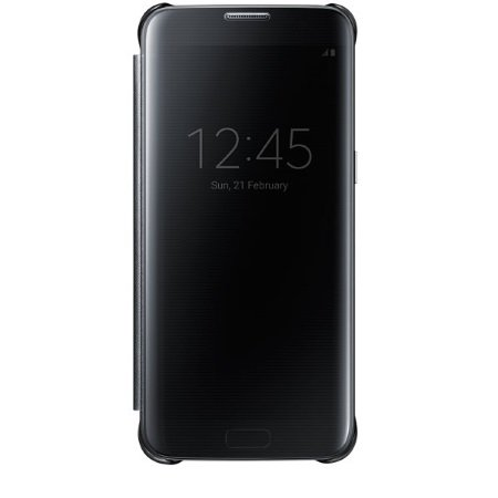 Samsung Clear View Cover - Clear View Cover Black Galaxy S7 Edge