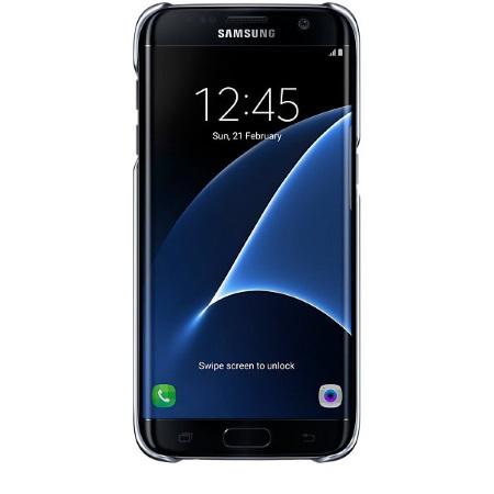 Samsung Clear Cover - Clear Cover Black Galaxy S7 Edge