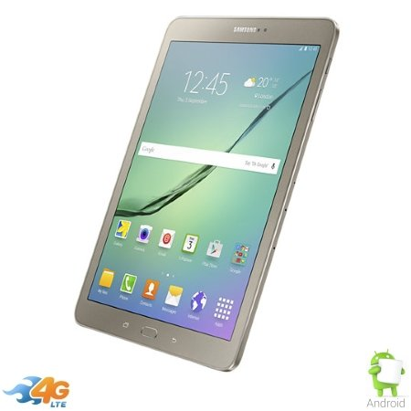 "Samsung 4G LTE / Wi-Fi - Galaxy Tab S2 LTE 9.7"" Sm-t819 Gold"