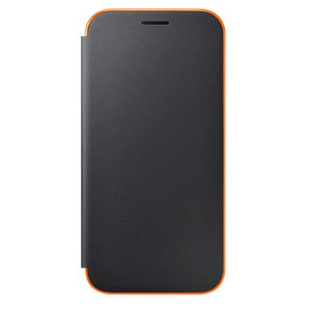 Samsung Custodia Neon Flip - Neon Flip Cover Black A5 2017