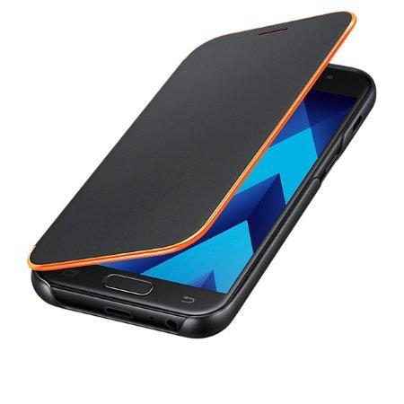 Samsung - Neon Flip Cover Black A3 2017