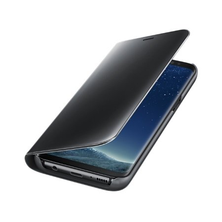Samsung Cover per Samsung Galaxy S8 - Galaxy S8 Clear View Standing Cover Nero