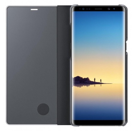 Samsung - Clear View Standing Cover Nero Note8