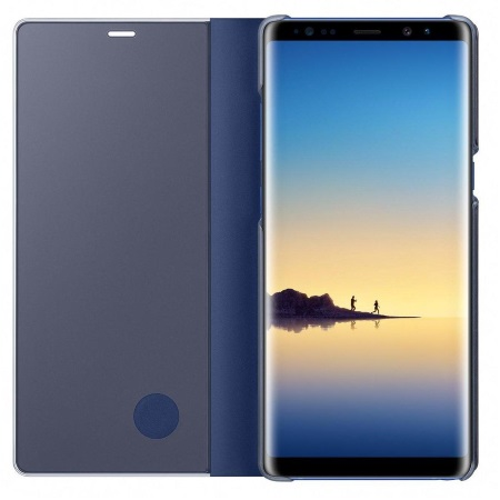 Samsung Accessorio per Note 8 - Clear View Standing Cover Blu Note 8