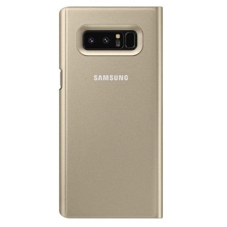 Samsung Accessorio per Note 8 - Clear View Standing Cover Oro Note8