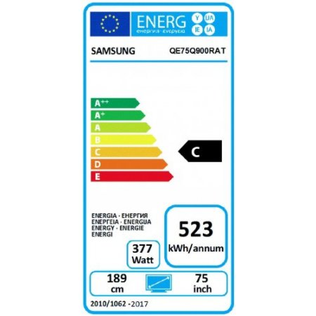 "Samsung Tv led 75"" ultra hd 8k hdr - Qe75q900ratxzt"