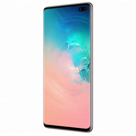 Samsung - Galaxy S10 Plus 512 GB SM-G975F Ceramic White