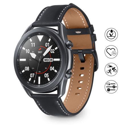 "Samsung Touchscreen 1.4"" Super AMOLED - Galaxy Watch3 45mm Mystic Black"