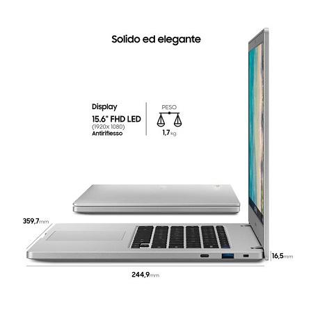 Samsung Chromebook 4+ Grigio Xe350xba-k02it