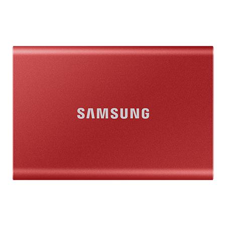 Samsung T7 da 500 GB SSD Portatile Rosso USB 3.2 (MU-PC500R/WW)
