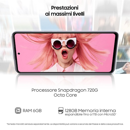Samsung Smartphone 128 gb ram 6 gb. quadband - Samsung A72 Black