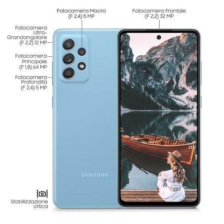 Samsung Quadri Band - 4G-LTE - Wi-Fi - NFC - A-GPS - Samsung A52 Blue