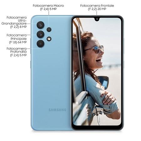 Samsung Quadri Band - 4G-LTE - Wi-Fi - NFC - A-GPS - Samsung A32 Blue