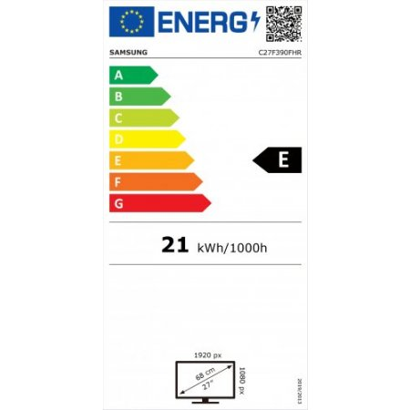 Samsung Monitor led curvo full hd - Lc27f390fhrxen