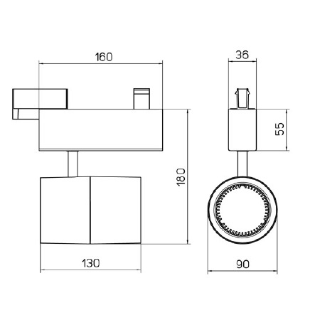 Side COB LED 27,8 W - 67300EC-LBC40   Proiettore da Binario