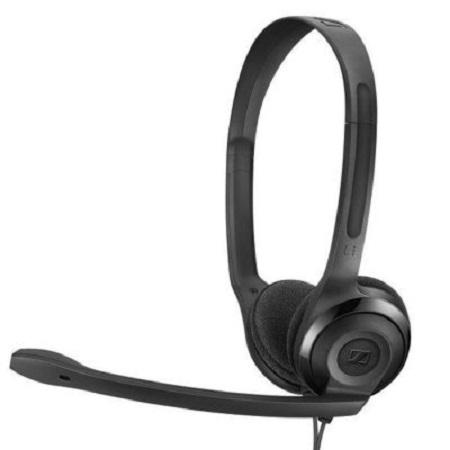 Sennheiser Exhibo Sennheiser PC 5 CHAT cuffia stereo microfonica compatibile con PC, Mac, telefono cellulare, PS4 e Xbox One tramite connettore USB e ingresso jack 3,5 mm. - Pc5