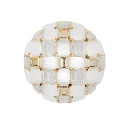 Slamp Mida White Gold Medium Lampada a plafone per soffitti o pareti - Mid78plf0000gd000
