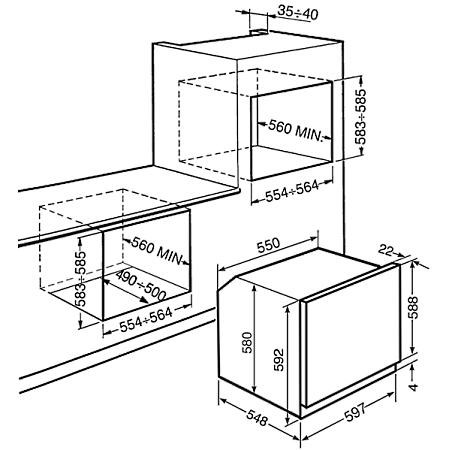 Smeg Forno elettrico da incasso - Sf561x