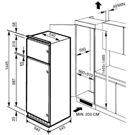SMEG Frigorifero doppia porta da incasso - FR232P
