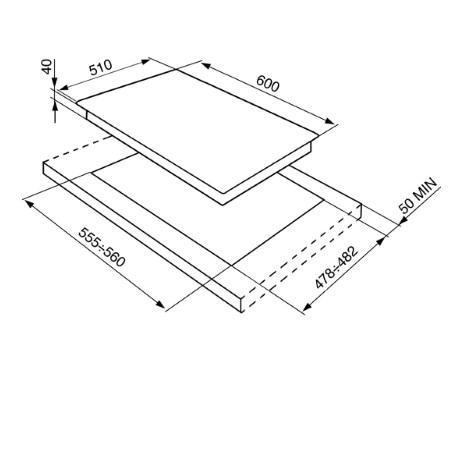 SMEG Piano cottura a gas - P261XGH