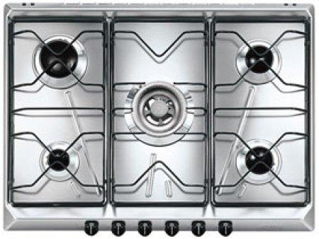 Smeg Piano cottura con 5 fuochi gas - Srv576-5