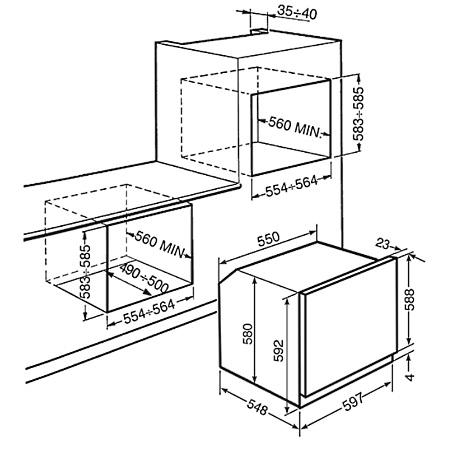 Smeg Forno elettrico multifunzione da incasso - Sf566xpz
