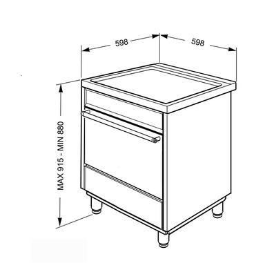 Smeg cucina elettrica ad induzione - C6imxi9