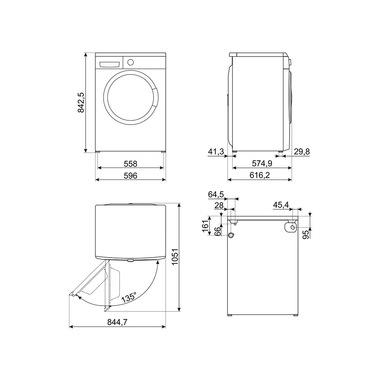 Smeg Lavatrice libera installazione - Lb2t102it