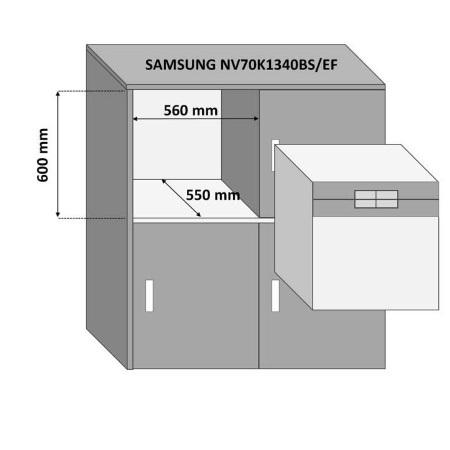 Samsung Forno elettrico 1700 w - Nv70k1340bs