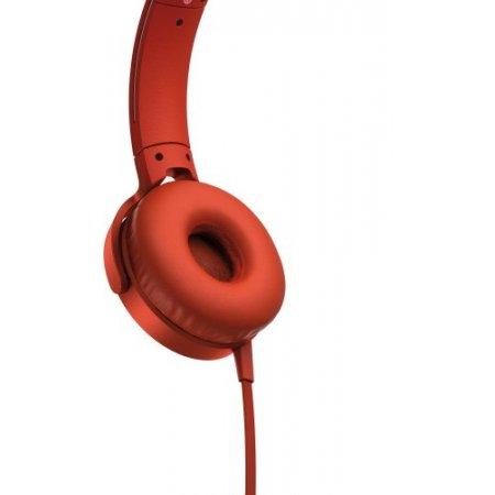 Sony Cuffia con filo - Mdr-xb550  Rosso