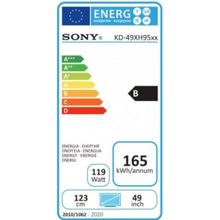 "Sony Tv led 49"" ultra hd 4k hdr - Kd49xh9505baep"