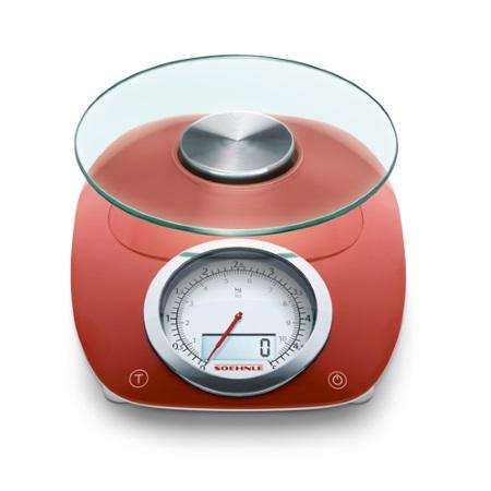 Soehnle Bilancia analogica digitale da cucina - Vintage Style Red - 66229