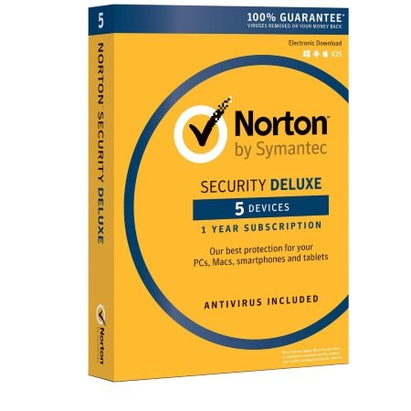 Symantec Antivirus e Internet Security fino a 5 dispositivi - NORTON SECURITY DELUXE 5 DISPOSITIVI