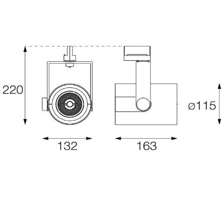 Targetti Proiettore da Binario - Ray Mini LED 30W 3K white - 1t4202