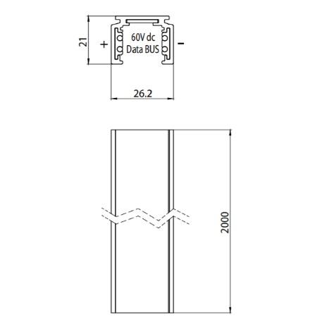 Targetti - Binario Standard a 4 Conduttori a bassa Tensione - 9500-2/b-st1