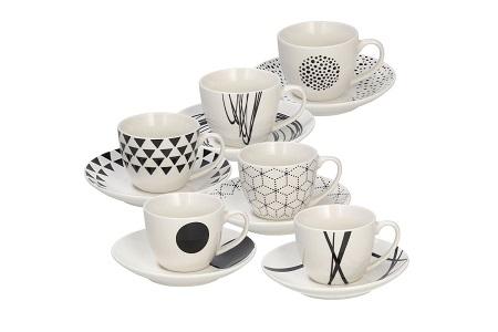 CONF. 6 TAZZE CAFFE'C/P     METROPOL GRAPHIC