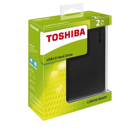Toshiba - Canvio Ready 2TB Black Hdtp220ek3ca