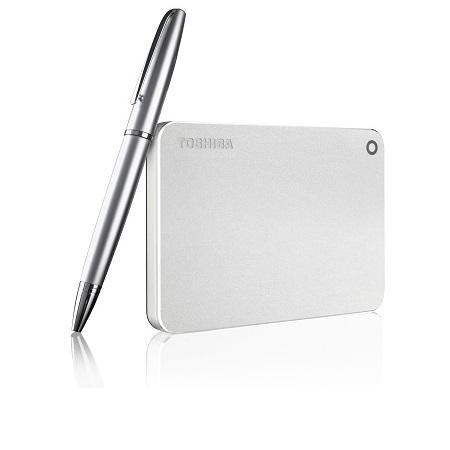 Toshiba - Canvio Premium Mac 1TB Metallic Silver