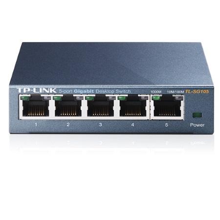 TP LINK Switch 5 porte gigabit RJ45 10/100/1000Mbps con auto-negoziazione - TL-SG105