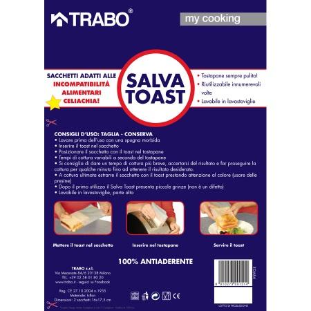 Trabo 2 buste in Icflon porta toast - My Cooking Salva Toast - Ecm54