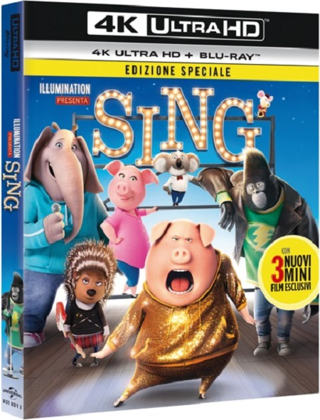 Universal Pictures Sing (Blu-ray + Blu-ray 4K Ultra HD) - 748310312u