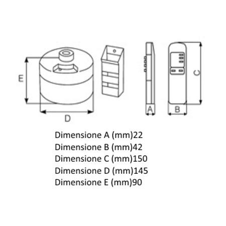 Vortice Telecomando a infrarossi (IR) - Telenordik 5T - 22387
