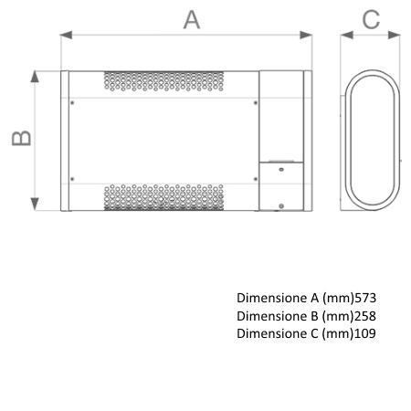 Vortice Finiture in acciaio verniciato con vernice antigraffio grigia - Microsol 1000-v0 - 70572