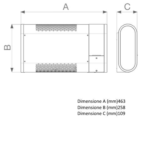 Vortice Finiture in acciaio verniciato con vernice antigraffio grigia - Microsol 600-V0 - 70562