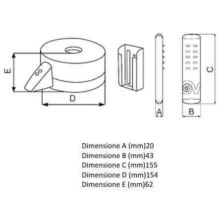 Vortice Kit per il controllo remoto dei ventilatori a soffitto - Telenordik 5tr 22386